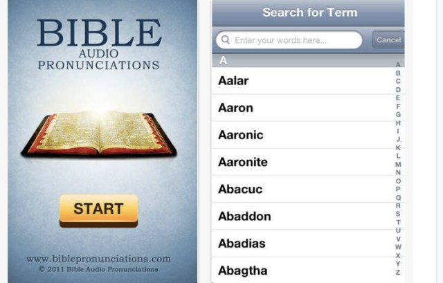 Bible Audio pronunciations
