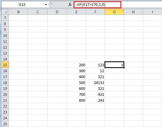 IF - Excel Formula