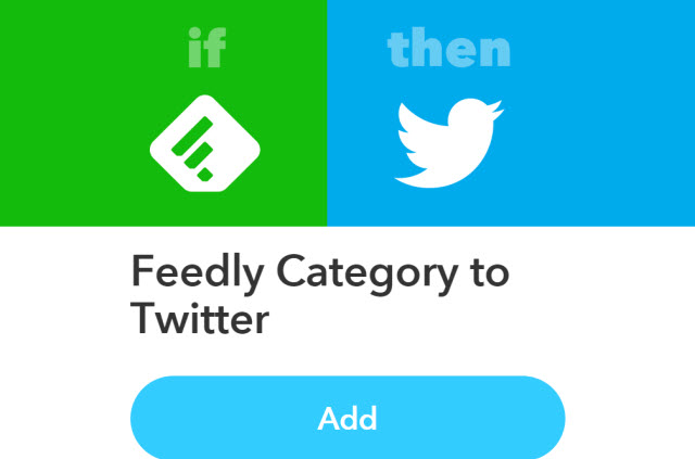 IFTTT + Feedly