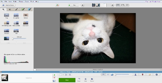 Picasso photo editor software