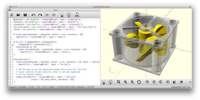 OpenSCAD The Programmers Solid 3D CAD Modeller