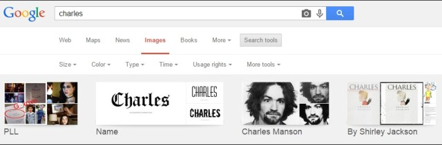 Search Images by specific Size, Color, Type, Time or Copyright