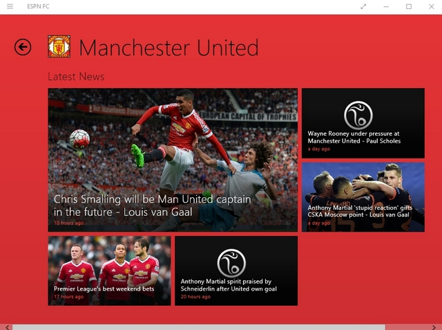 ESPN FC Windows app
