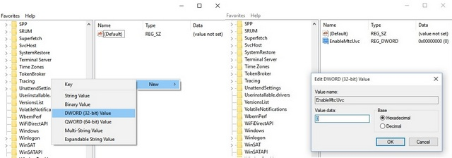 Registry editor to change volume control UI