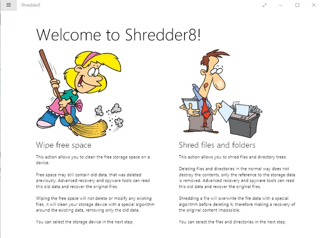 Shredder8 Windows App