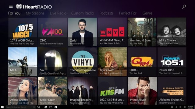 iHeart Radio Windows App