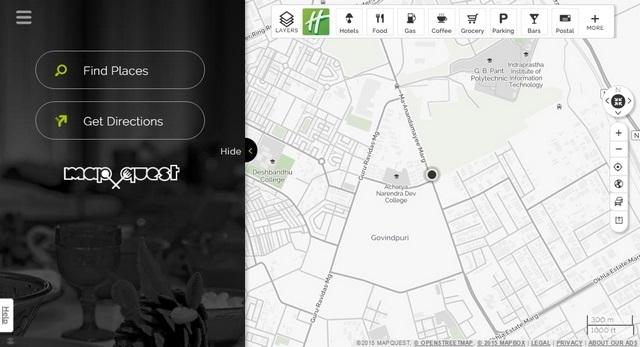 Mapquest website