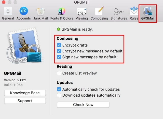 Apple Mail Encrypt Preferences