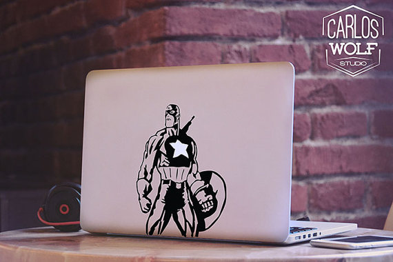Captain America Macbook Decal Sticker
