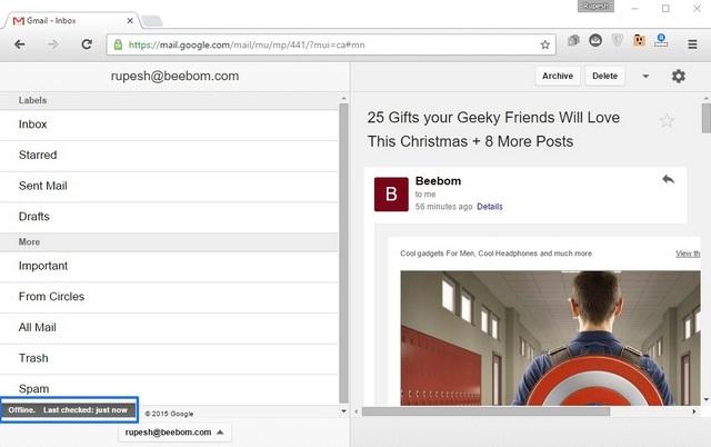 Gmail Offline Extension