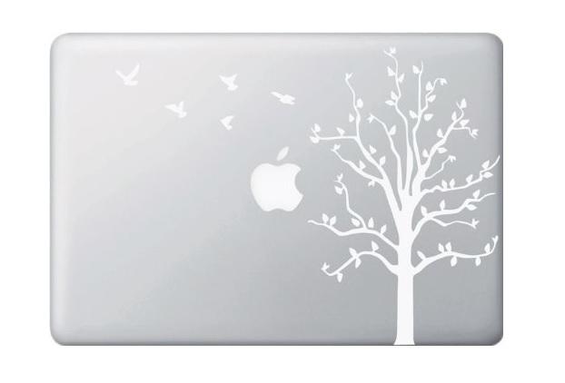 Tree with Birds Macbook Decal Sticker