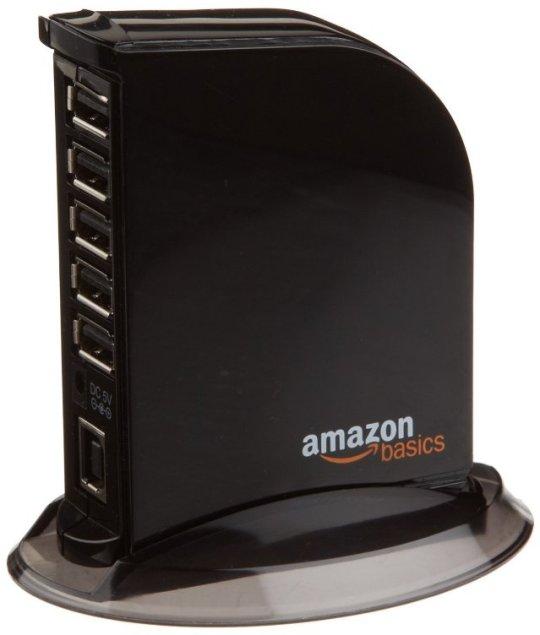 AmazonBasics 7 Port USB 2.0 Hub