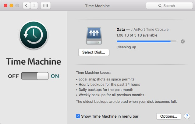 Mac Boot Options -bb- Time Machine