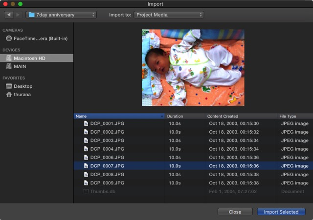 iMovie - Import Source 2