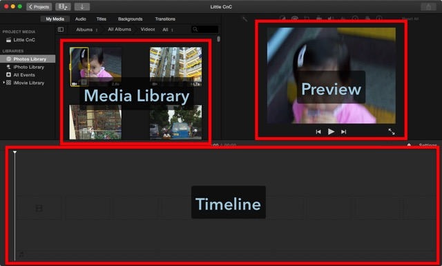 iMovie - Workspace
