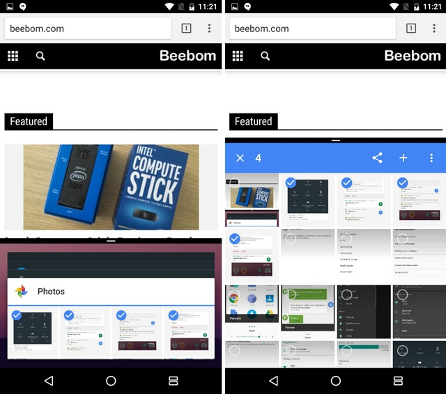 Android N multi window feature