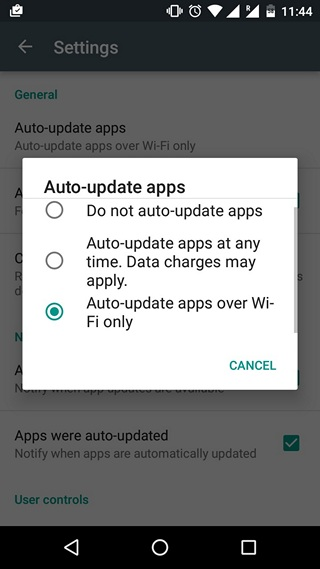 Google Play Tips Auto-update apps