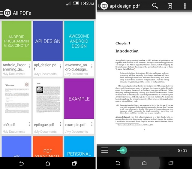 android read pdf file in application