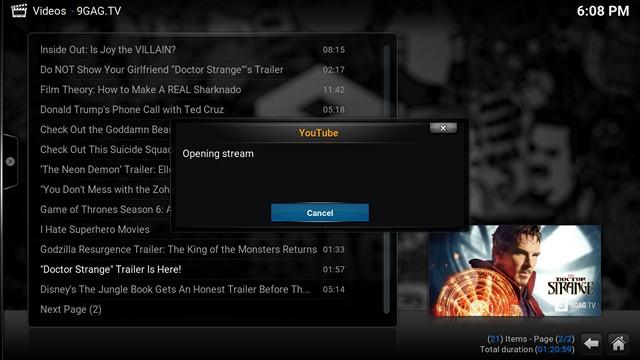 Reproducir video Kodi Chromecast