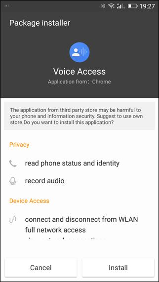 allow voice acces