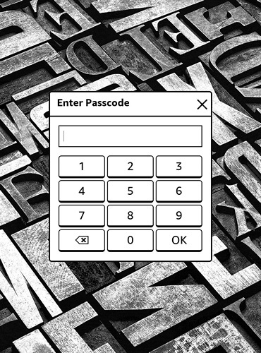 Kindle Passcode