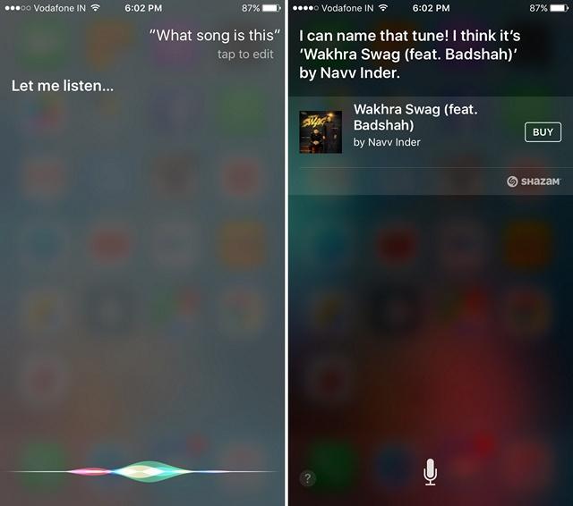 Siri Identify Songs