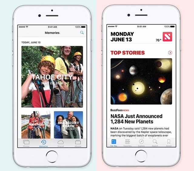 Apple Photos and News App