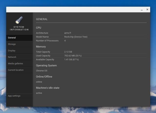 Chrome OS System app