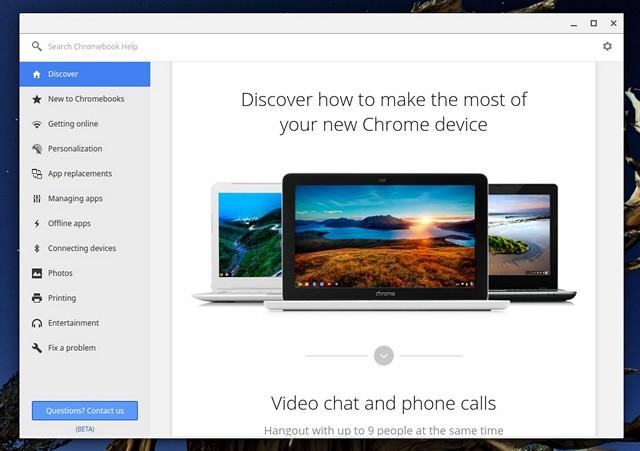Chromebook Get Help