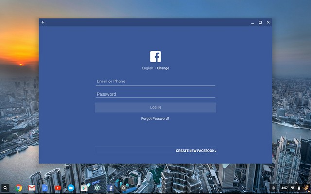 Facebook App Chrome OS
