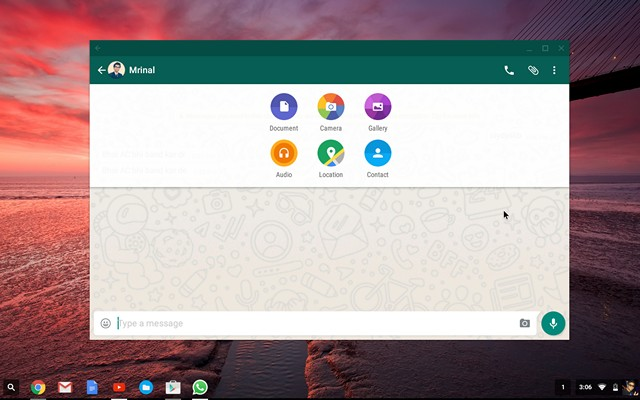 WhatsApp working on Chromebook