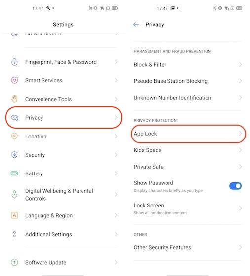 Ausblenden von Apps in Realame-Telefonen 1