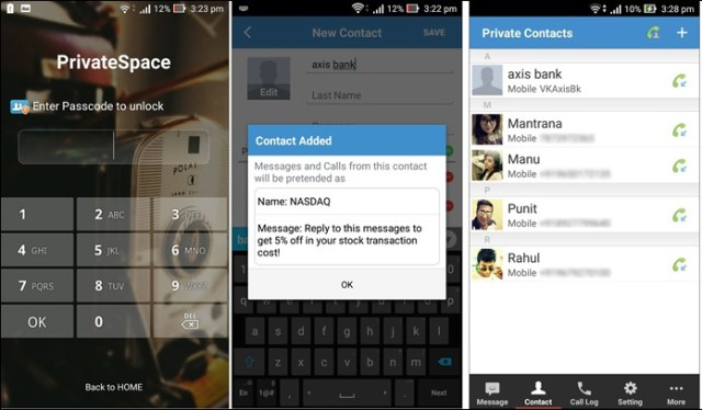 private Space for messages