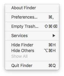 quit finder