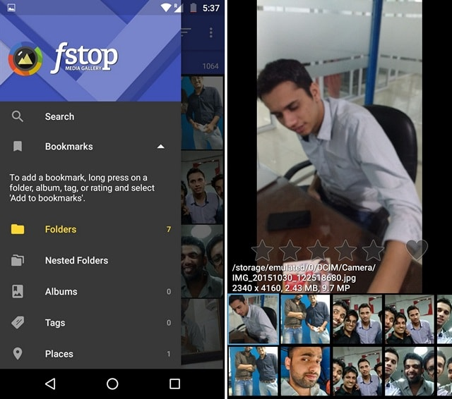 F-Stop Gallery app