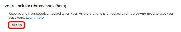 Smart Lock Beta Chrome OS