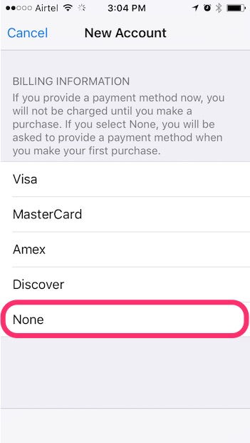 install georestricted apps on iPhone new apple id step two