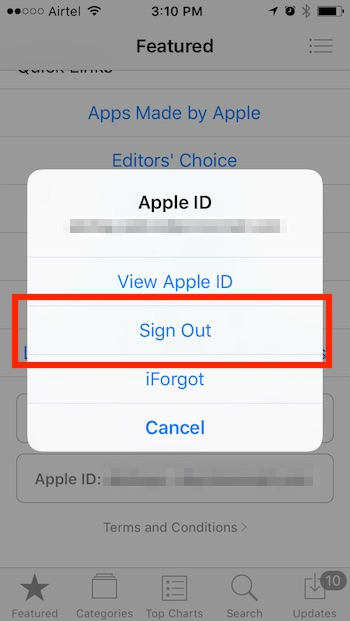 install georestricted apps on iPhone sign out of apple id featured page