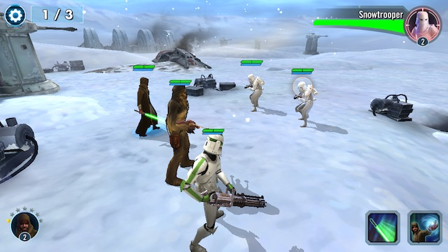 latest iPhone games star wars battle against snowtroopers
