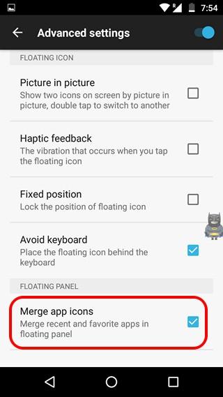Paneles de combinación de Easy App Switcher