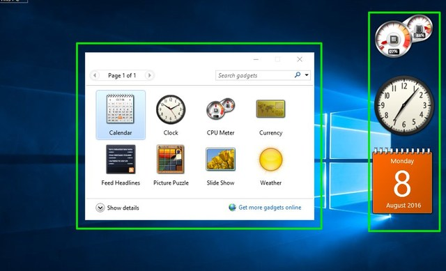 Gadgets-in-windows-10