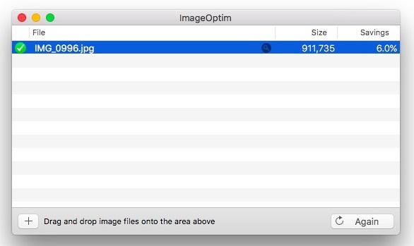 ImageOptim app Mac