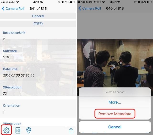 Metadata Remover app iOS