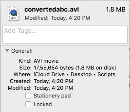 converted video format