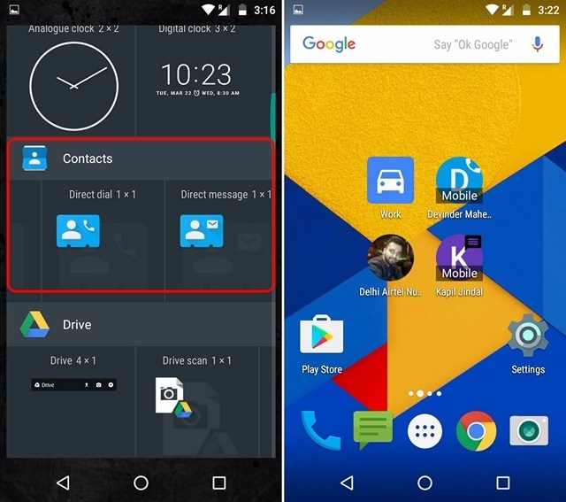 Android Shortcut direct call message-compressed