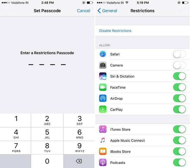 ocultar-restricciones-de-aplicaciones-iphone