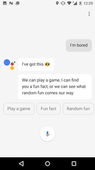 google assistant tricks i'm bored