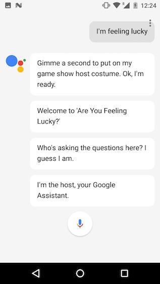 google assistant tricks i'm feeling lucky