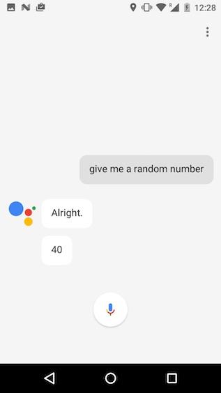 google assistant tricks give me a random number