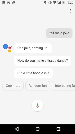 google assistant tricks tell me a joke